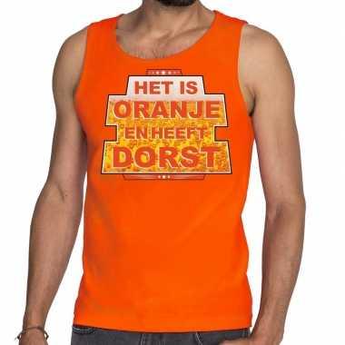 Goedkope het is oranje en heeft dorst tanktop / mouwloos shirt oranje