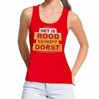 Goedkope het is rood en heeft dorst tanktop / mouwloos shirt rood dam