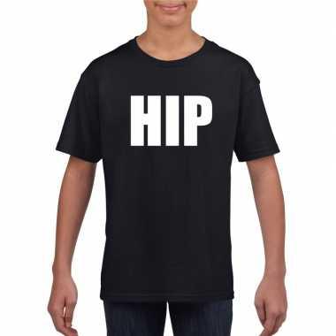 Goedkope hip fun t shirt zwart voor jongens en meisjes