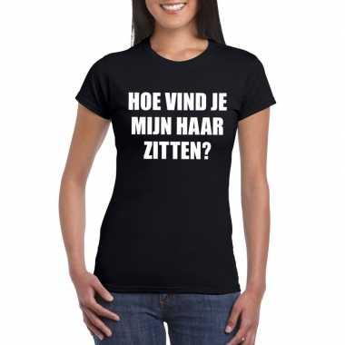 Goedkope hoe vind je mijn haar zitten? shirt zwart voor dames