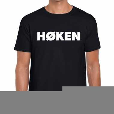 Goedkope hoken zwarte cross t shirt zwart voor heren