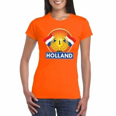 Goedkope holland kampioen shirt oranje dames