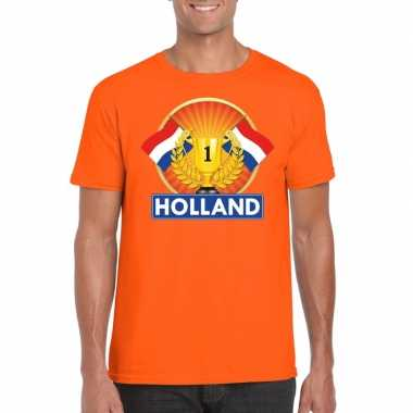 Goedkope holland kampioen shirt oranje heren