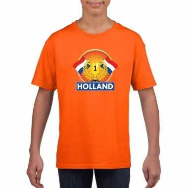 Goedkope holland kampioen shirt oranje kinderen