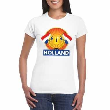 Goedkope holland kampioen shirt wit dames