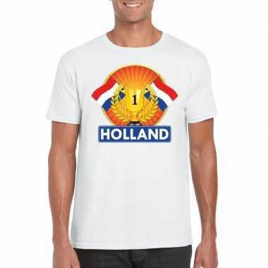Goedkope holland kampioen shirt wit heren