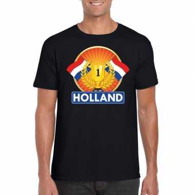 Goedkope holland kampioen shirt zwart heren