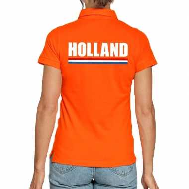 Goedkope holland polo t shirt oranje kingsday voor dames
