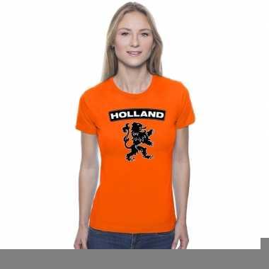 Goedkope holland shirt leeuw oranje dames