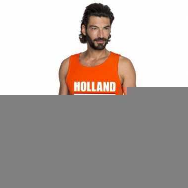 Goedkope holland supporter mouwloos shirt oranje heren