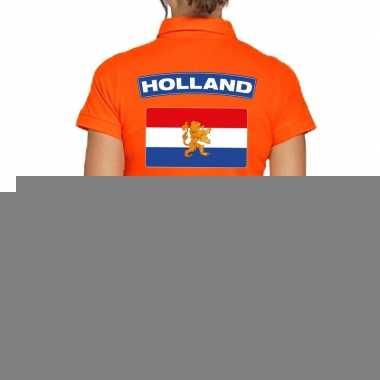 Goedkope holland supporter polo t shirt oranje kingsday voor dames