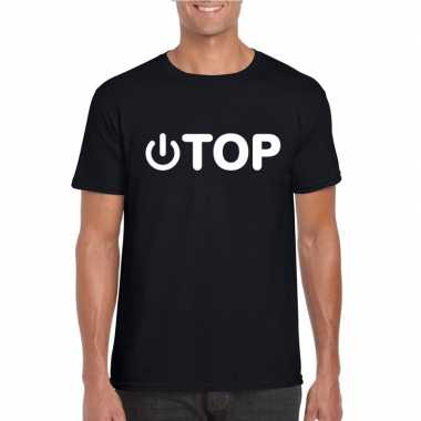 Goedkope homo shirt power top zwart heren