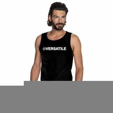 Goedkope homo tanktop/ singlet shirt power versatile zwart heren