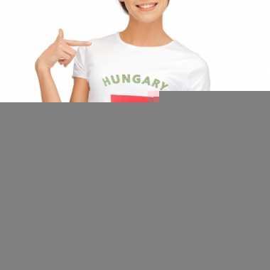 Goedkope hongaarse vlag t shirt voor dames