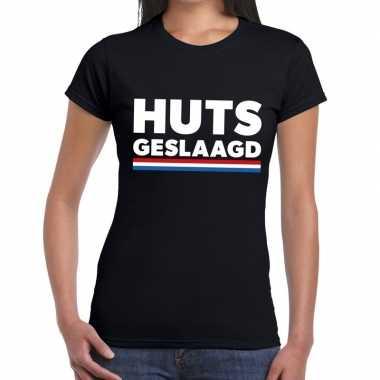 Goedkope huts geslaagd zwart fun t shirt voor dames
