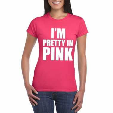 Goedkope i am pretty in pink toppers shirt roze dames
