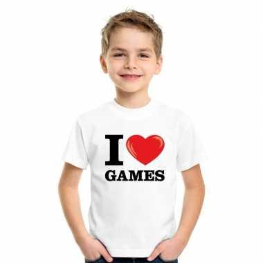 Goedkope i love games t shirt wit jongens en meisjes