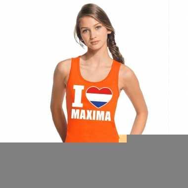 Goedkope i love maxima topje/shirt oranje dames
