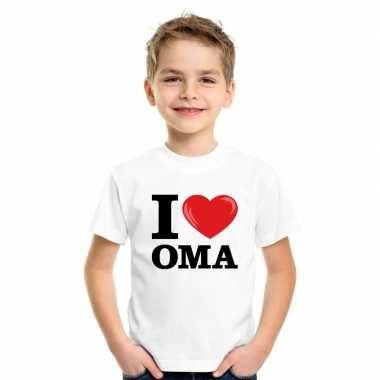 Goedkope i love oma t shirt wit jongens en meisjes