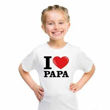 Goedkope i love papa t shirt wit jongens en meisjes