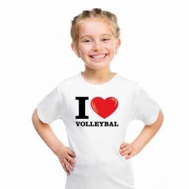 Goedkope i love volleybal t shirt wit jongens en meisjes