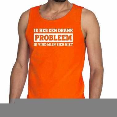 Goedkope ik heb een drankprobleem tanktop / mouwloos shirt oranje her