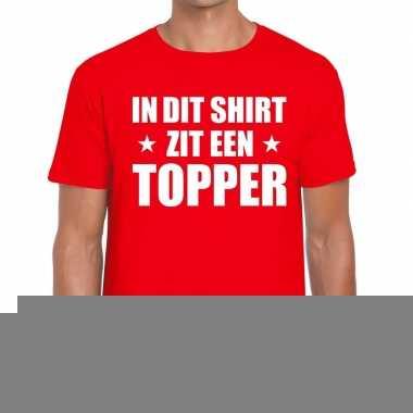 Goedkope in dit shirt zit een topper tekst t shirt rood voor heren