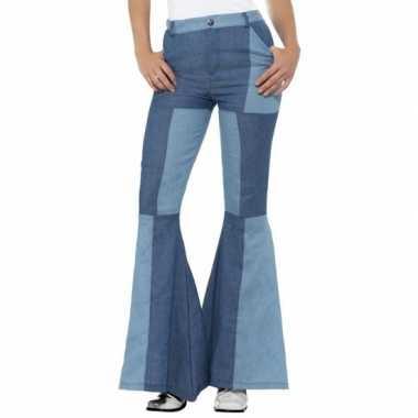 Goedkope jaren 60 sixties verkleed broek blauw voor dames