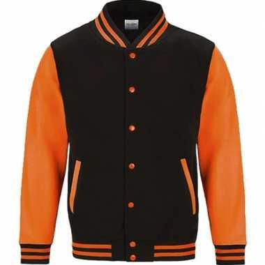 Goedkope jas met fluor oranje mouwen