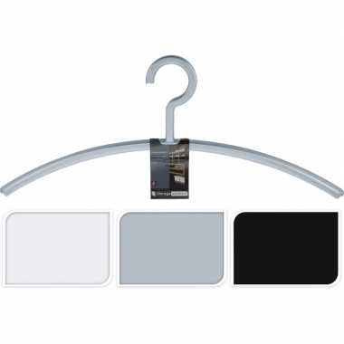 Goedkope jassenhangers voor in de hal/garderobe per 2 stuks zwart