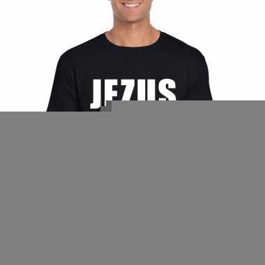 Goedkope jezus is cool shirt zwart voor heren