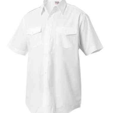 Goedkope kapitein overhemd korte mouw