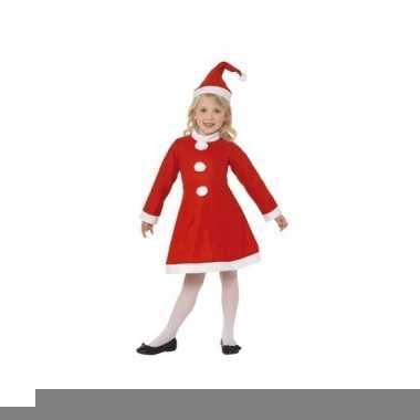 Goedkope kerstmis jurk inclusief muts