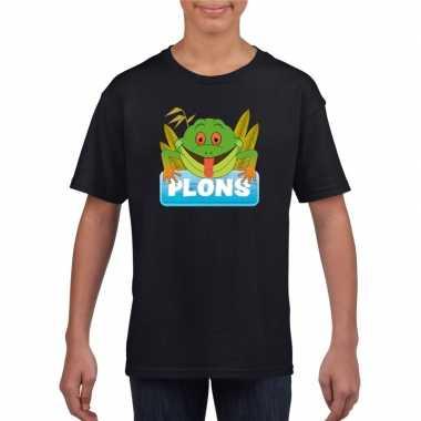 Goedkope kikker dieren t shirt zwart voor kinderen