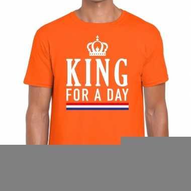 Goedkope king for a day t shirt oranje heren