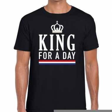 Goedkope king for a day t shirtt zwart heren