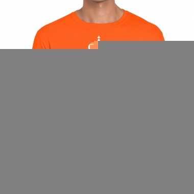Goedkope king for life t shirt oranje heren