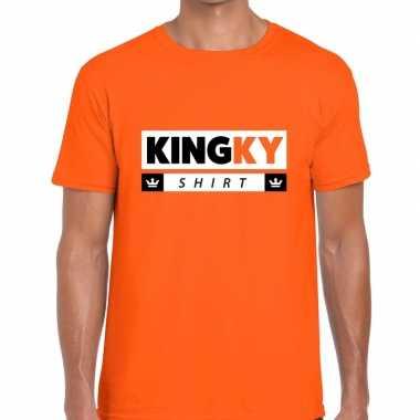 Goedkope kingky t shirt oranje heren