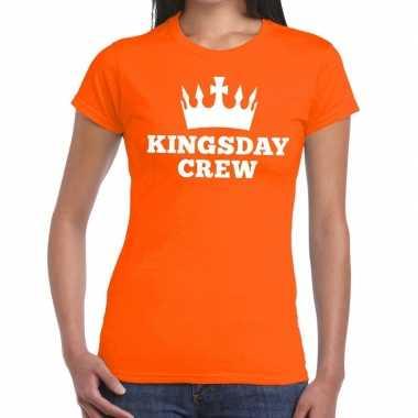 Goedkope kingsday crew t shirt oranje dames