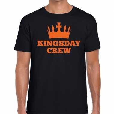 Goedkope kingsday crew t shirt zwart heren