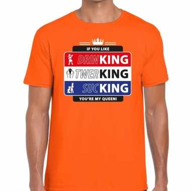 Goedkope kingsday if you like shirt oranje heren