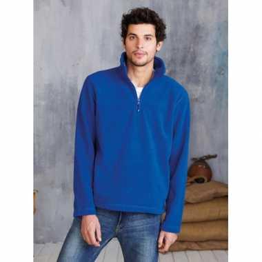 Goedkope kleren grote maten fleece trui met rits