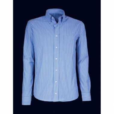 Goedkope kleren heren overhemd gestreept blauw