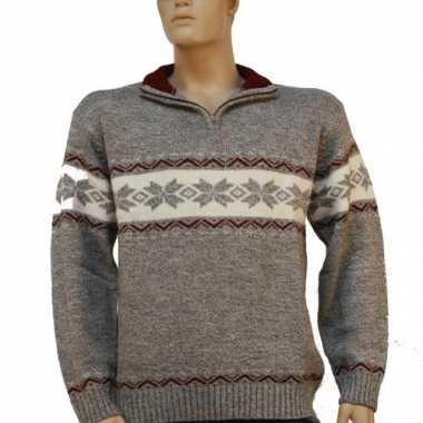 Goedkope kleren heren trui met halsrits