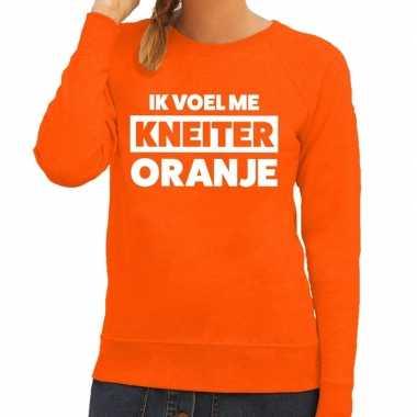 Goedkope koningsdag fun trui ik voel me kneiter oranje dames