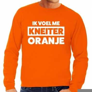 Goedkope koningsdag fun trui ik voel me kneiter oranje heren