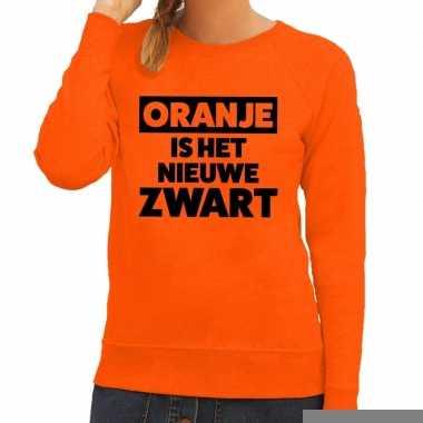 Goedkope koningsdag fun trui oranje is het nieuwe zwart oranje dames