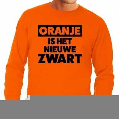 Goedkope koningsdag fun trui oranje is het nieuwe zwart oranje heren