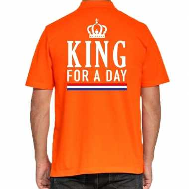 Goedkope koningsdag polo t shirt oranje king for a day voor heren