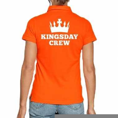 Goedkope koningsdag polo t shirt oranje kingsday crew voor dames